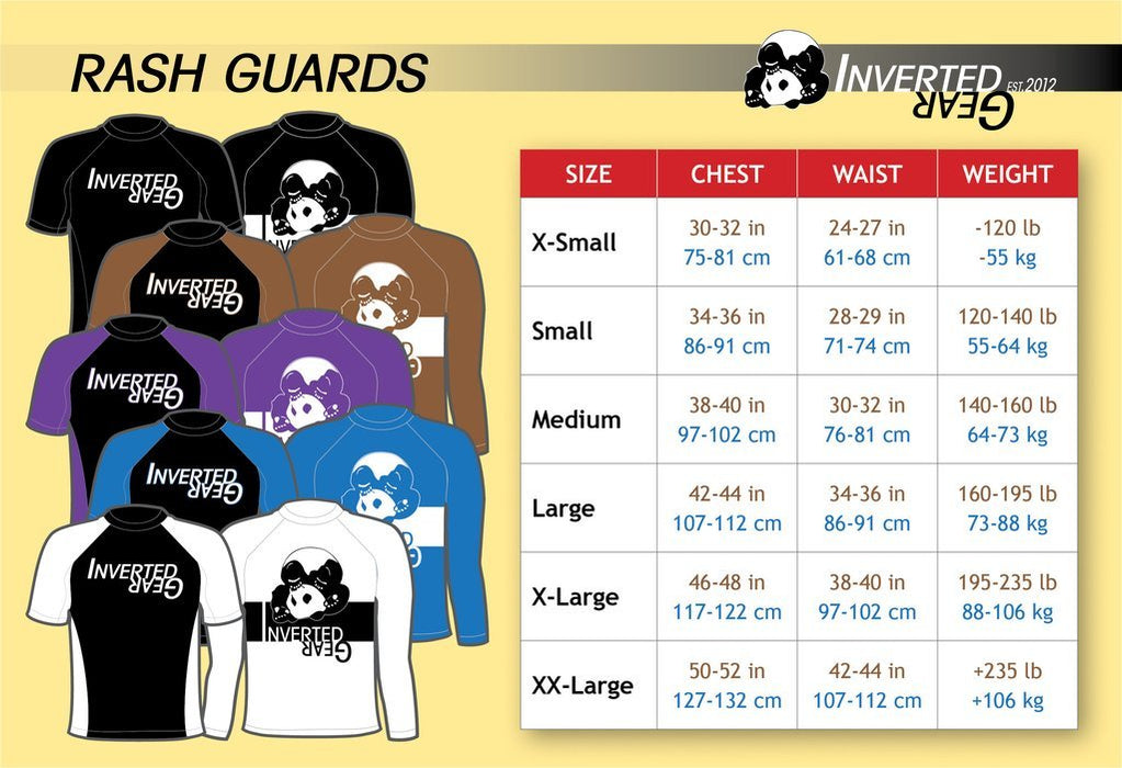 Rashguard Manches Courtes - Inverted Gear Ranked