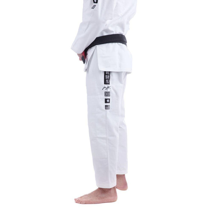 Tatami Signature BJJ Gi white pants side left