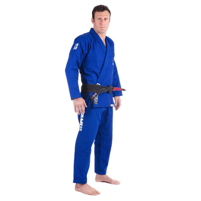 Tatami Essential BJJ Gi blue front side right
