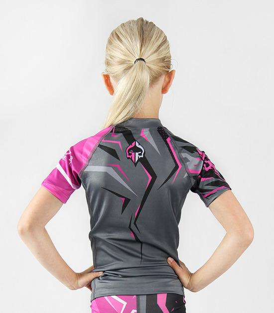 Back view of a Ground Game Clash Kids Rashguard