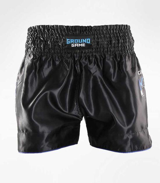 Front view of a Ground Game Shield Muay Thai Shorts