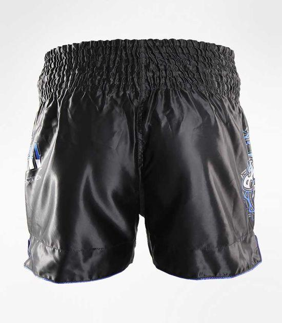Back view of a Ground Game Shield Muay Thai Shorts