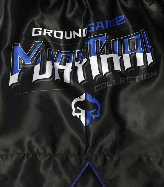 Printing of a Ground Game Shield Muay Thai Shorts