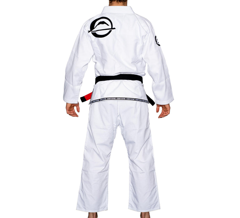 fuji submit everyone bjj gi blanc back