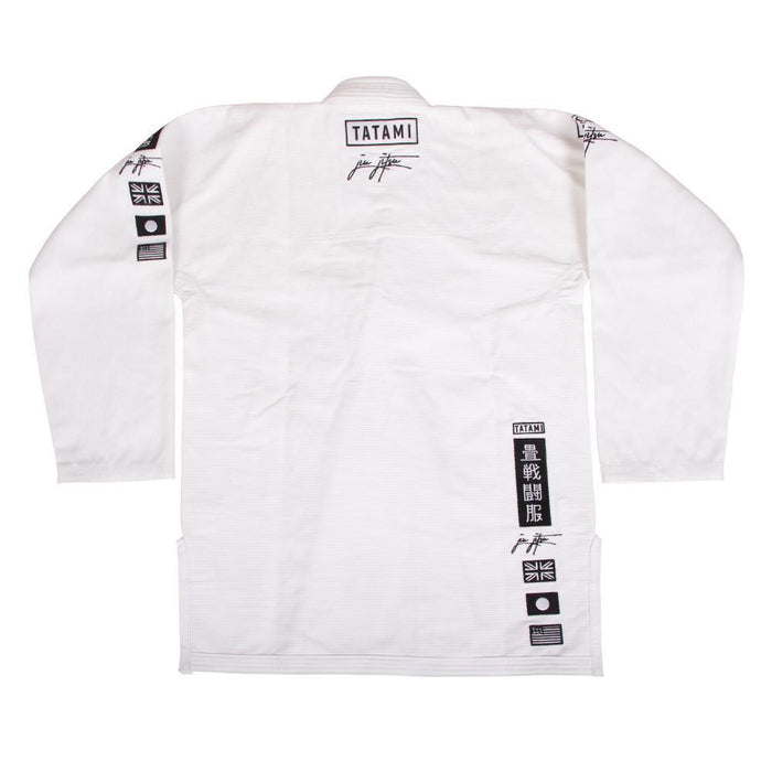 Tatami Signature BJJ Gi white front closeup jacket
