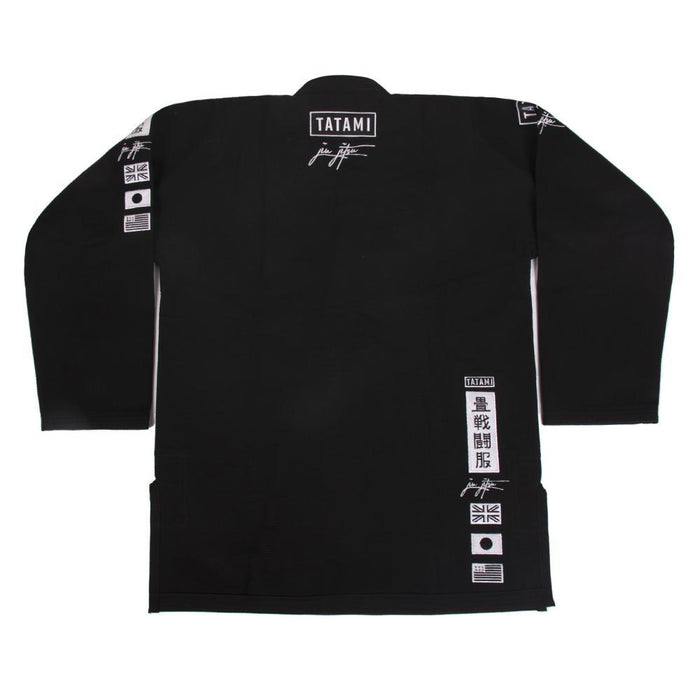 Tatami Signature BJJ Gi black front closeup jacket