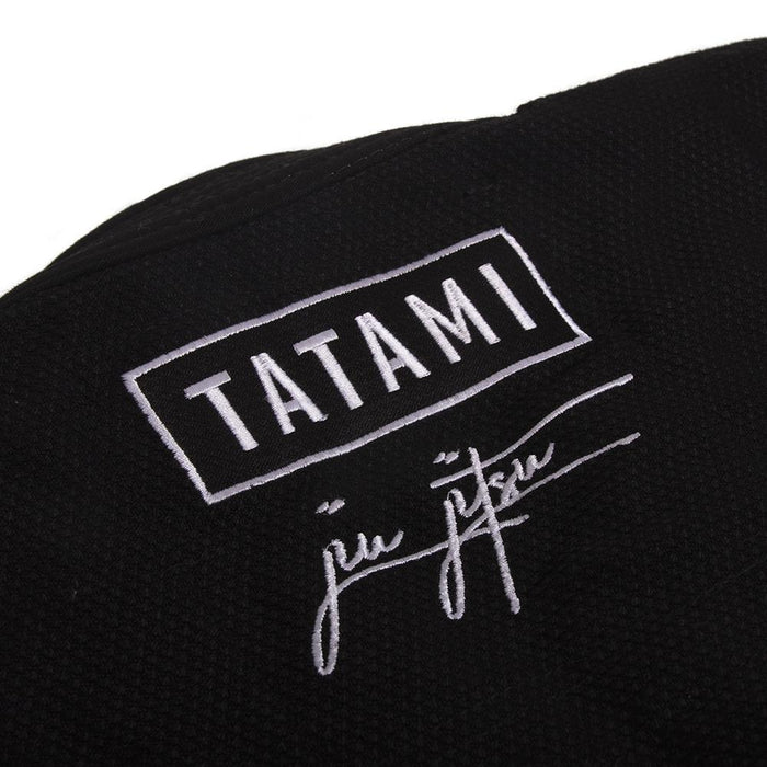 Tatami Signature BJJ Gi black back closeup