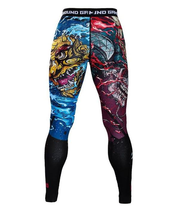Pantalons de compression Ground Game Bushido II - Noir
