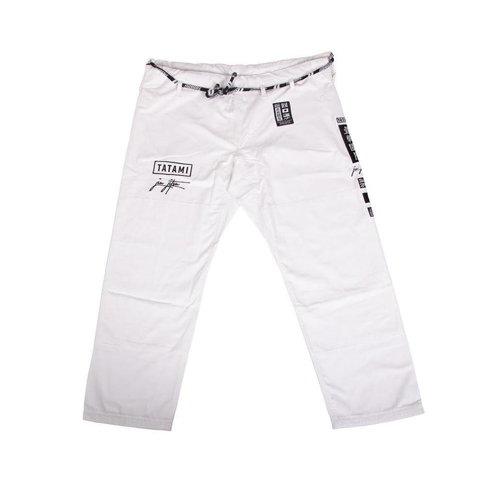 Tatami Signature BJJ Gi white front closeup pants