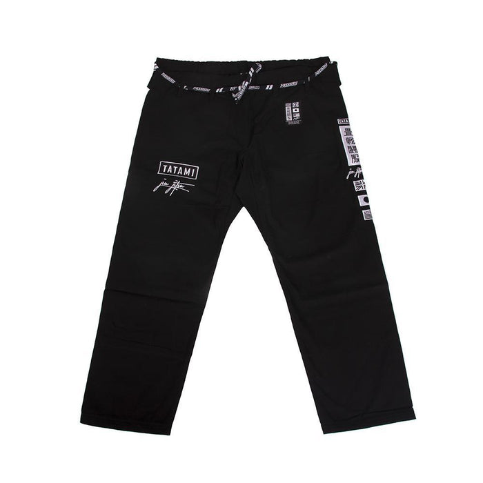 Tatami Signature BJJ Gi black front closeup pants