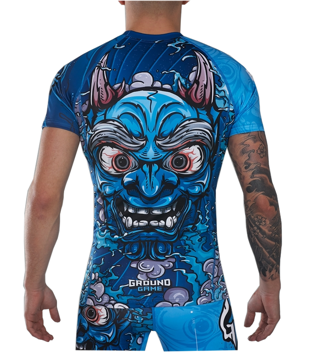 Rashguard Manches Courtes - Ground Game Oni