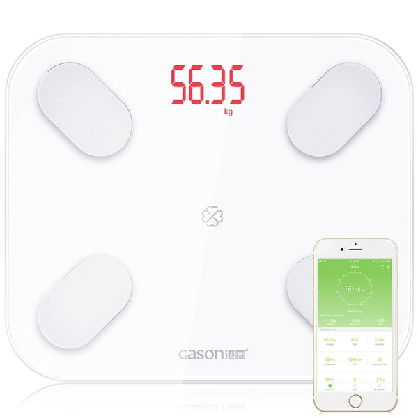 2018 Body Fat Scale Floor Scientific Smart Electronic Led Digital Weight Bathroom Balance Bluetooth App Android Or Ios Tools