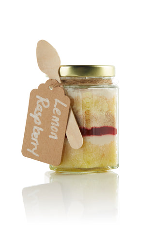 Lemon Raspberry Cupcake in a Jar