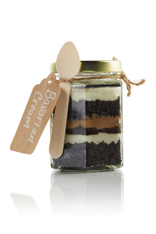 Chocolate Bavarian Cream Cupcake in a Jar