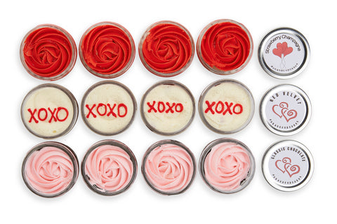 A Dozen Roses - Rose Cupcakes in a Jar