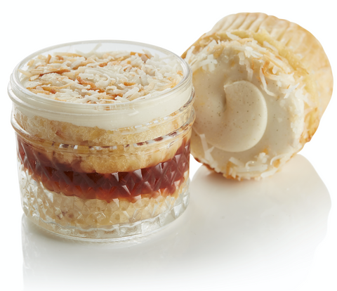 VG/GF Strawberry Coconut Cupcake in a Jar