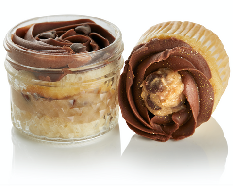 VG/GF Cookie Dough Cupcake in a Jar