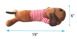 BUDDY-Long Body Pillow-Red Stripe Shirt