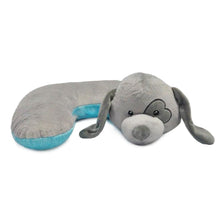 Load image into Gallery viewer, HUGG-Grey Dog Pillow w/Heart Eye