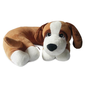 DOZY-Brown Dog Pillow w/White Paws