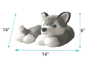 WILLOW the Husky Curved Dog Pillow