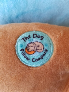 Beige Dog Pillow w/Heart Eye