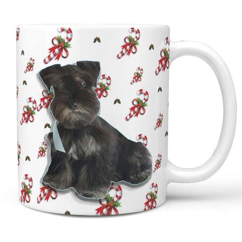 candy cane collection your pet's photo coffee mug