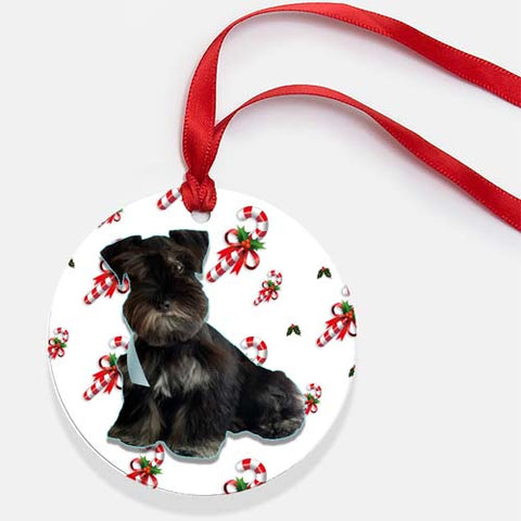 candy cane collection your pet's photo christmas tree ornament
