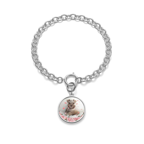silver Custom Your Pet's Photo Chunky Chain Bracelet
