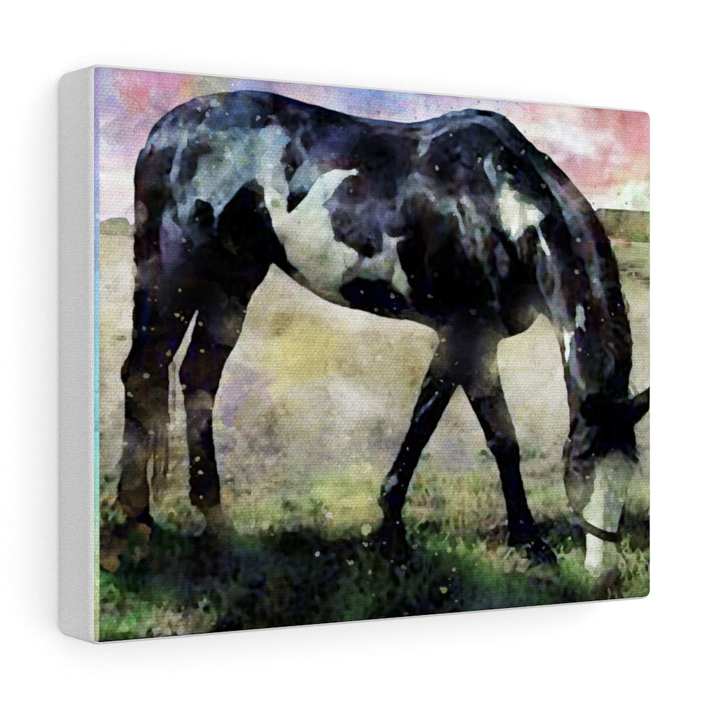 Custom Watercolor Art Your Pet Photo Canvas