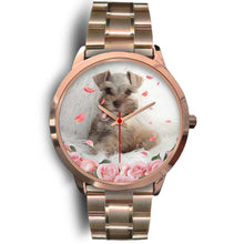 Load image into Gallery viewer, Custom Your Pet's Photo Rose Gold Watch