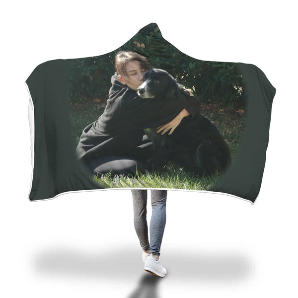 Custom Your Pet's Photo Hooded Blanket