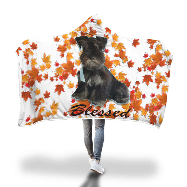 Custom Pet Picture Blesssed Autumn Hooded Blanket