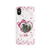 Load image into Gallery viewer, Custom Your Pet's Photo Slim Phone Case Valentine's Day Design