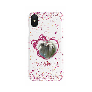 Custom Your Pet's Photo Slim Phone Case Valentine's Day Design