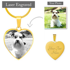 Custom Etched Pet Photo Necklace