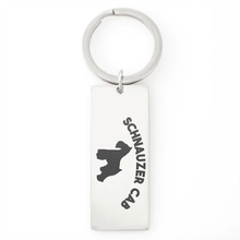 Load image into Gallery viewer, Schnauzer Cab Keychain