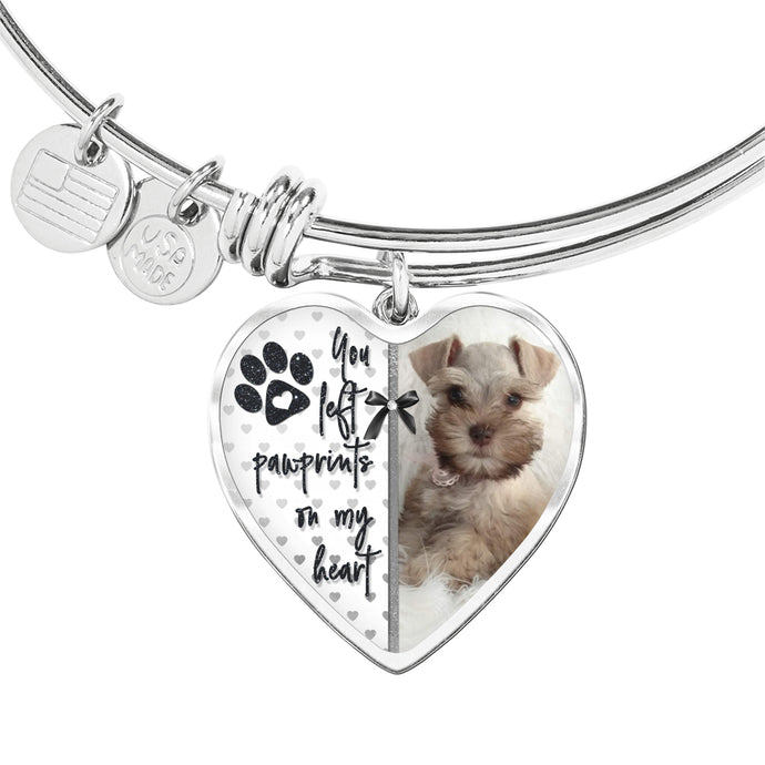 Pet Memorial Bracelet - You Left Pawprints On My Heart
