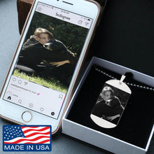 Load image into Gallery viewer, Your Pet's Photo Etched Dog Tags Necklace