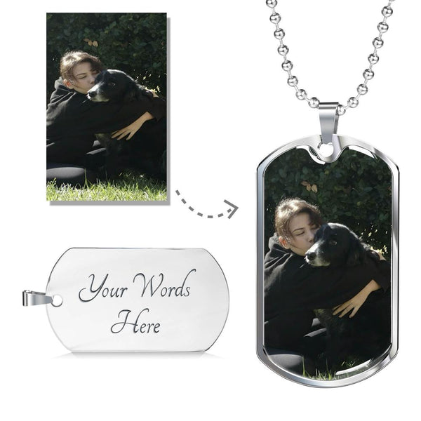 Your Pet's Photo Dog Tags Necklace