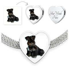 Personalized Your Pet's Photo Pandora Style Heart Charm