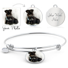 Load image into Gallery viewer, Personalized Your Pet's Photo Charm Bracelet