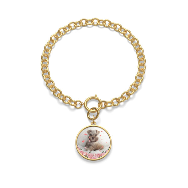 gold Custom Your Pet's Photo Chunky Chain Bracelet