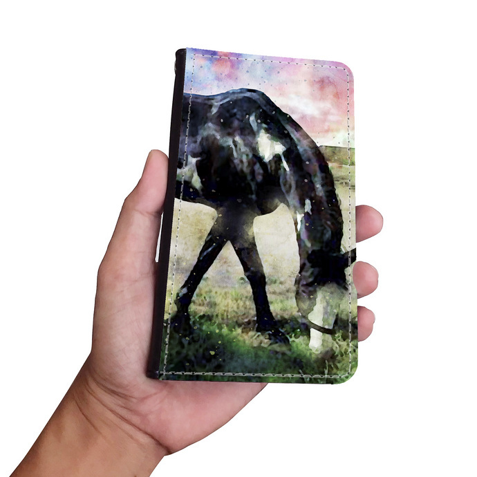Your Pet Photo Classic Watercolor Art Phone Wallet Case