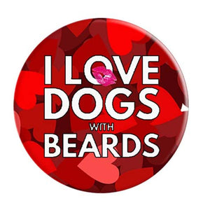 I Love Dogs With Beards PopSocket