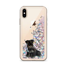 Load image into Gallery viewer, Custom Your Pet's Picture Liquid Glitter iPhone Case