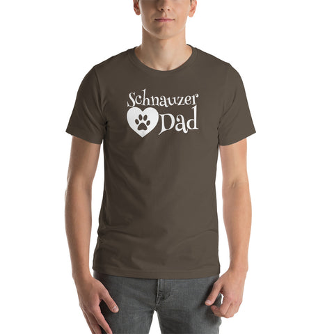 Schnauzer Dad Short-Sleeve Unisex T-Shirt