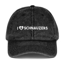 Load image into Gallery viewer, I Love Schnauzers Vintage Cotton Twill Cap