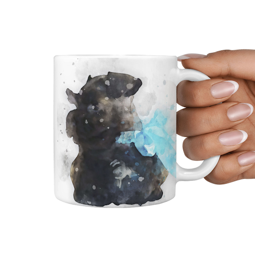 Your Pet Photo Custom Watercolor Art  Mug
