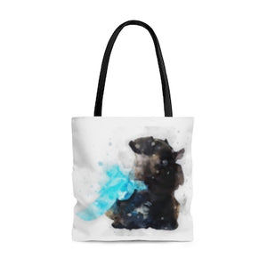 Custom Watercolor Art Your Pet Photo Tote Bag